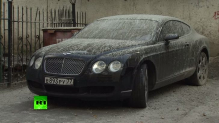 Only in Russia: Concrete Covered Bentley