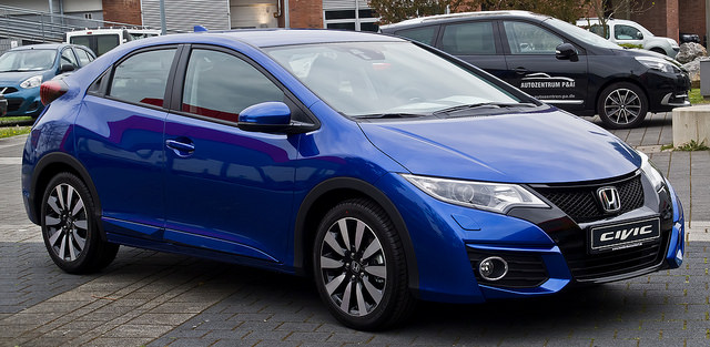 Honda Civic 1.6 i-DTEC Elegance (IX, Facelift) – Frontansicht, 2. Mai 2015, Düsseldorf