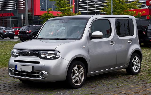 Nissan Cube (Z12) – Frontansicht, 25. August 2013, Düsseldorf