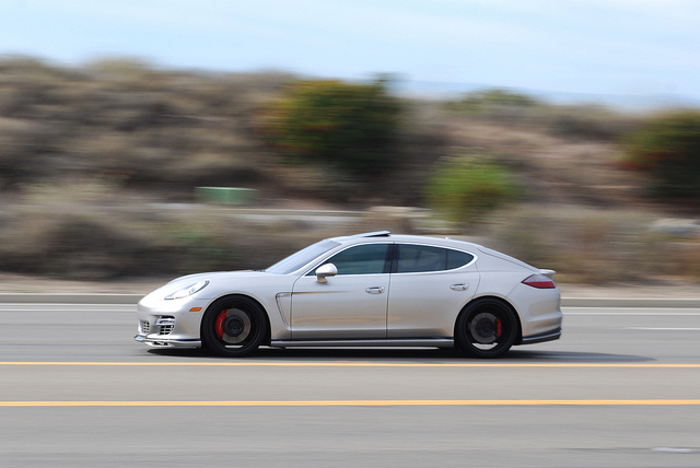 Porsche Panamera in motion