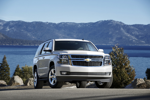 2015 Chevrolet Tahoe in White Diamond Front in Lake Tahoe