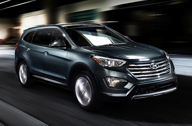 2015 Hyundai Santa Fe Black Wallpaper