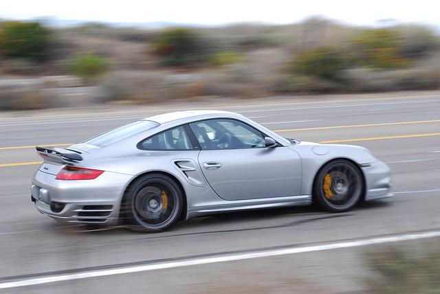 Porsche 911 Turbo in motion