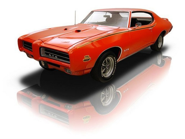 1969 Orange Pontiac GTO The Judge 400V8 Ram Air III 4 Speed