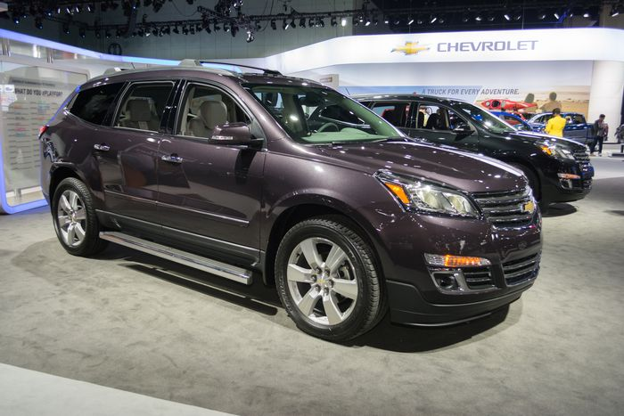 Chevrolet Traverse 2015 on display